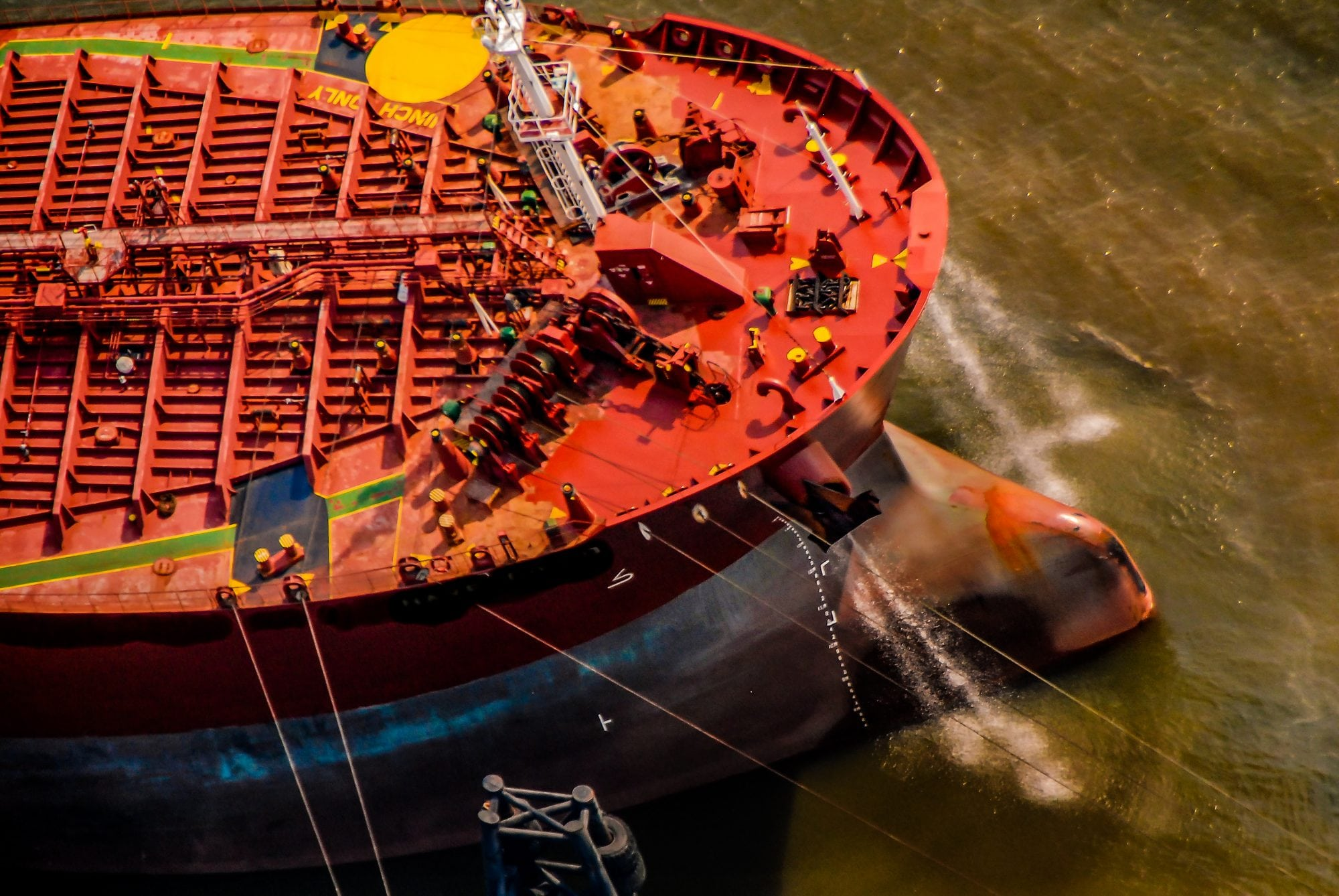 Aerial Photography of Ship
